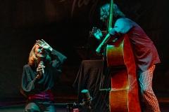 Myra-Mel[PARFUM DE JAZZ]  Le mercredi 12  aout à Buis-les-Baronnies 2ème concert Joëlle Léandre  trio - Lauren Newton et Joëlle Léandre