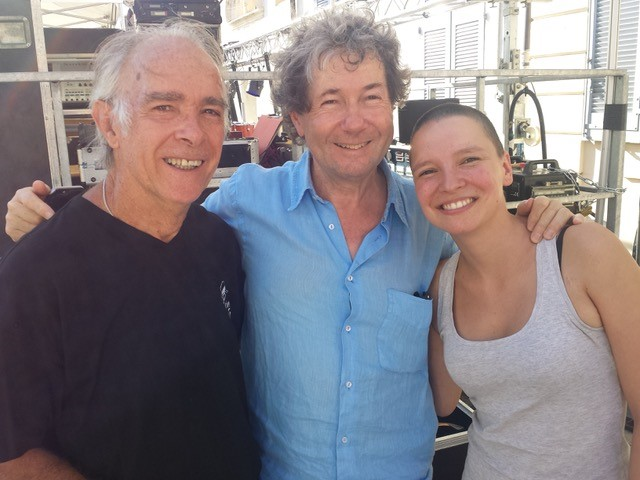Anne-Sila-avec-Alain-Brunet-et-Gerard-Bravais-bénévole-21-août-2015