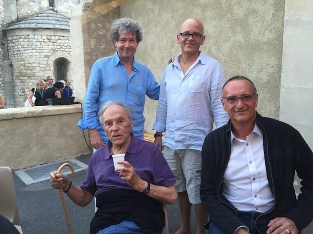 Jean-Louis-Trintignant-Daniel-Mille-le-maire-de-La-Garde-Adhémar-Alain-Brunet-le-22-août-2015