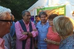 Jean-Jack Queyranne président de la région Rhône-Alpes  avec Rodolphe Pesce ancien président du conseil général de la Drôme au festival Parfum de jazz 14 août 2015