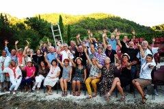 2019: Une partie de l'équipe Parfum de Jazz à la Palun