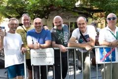 """L'équipe technique: Pierre Bressy, Claude Champion, Didier Dupaux, Jean-François Cartaud, Lionel Vachey, Jean Paul Rueff """"il est interdit de nourrir les techniciens"""""""