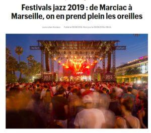 Télérama Festivals de jazz été 2019
